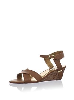 Cynthia Vincent Women's Lita Mini Wedge Sandal (Chocolate)