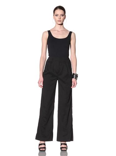 FACTORY by Erik Hart Women's Stretch Crepe High Waist Trouser (Onyx)