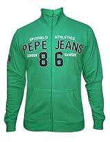 Pepe Jeans Green Zipper Sweatshirt