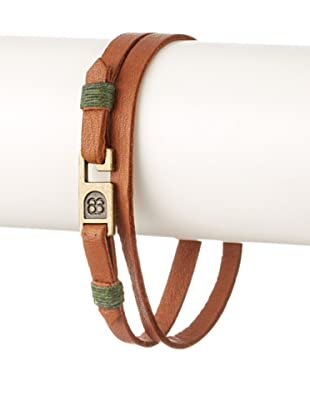 Griffin Tan Legend Leather Double Wrap Bracelet