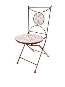 Esschert Design Aged Ceramic Bistro Chair