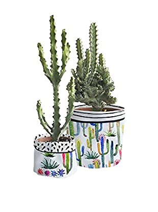Surdic Macetero Cover Watercolor Cactus