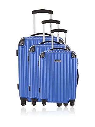 Travel One Set de 3 trolleys rígidos Teramo Azul