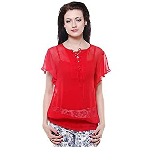 My Addiction Red Women Top MWST404