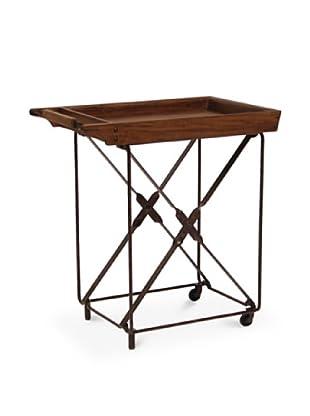 Palecek Camden Tea Cart, Dark Grey/Brown