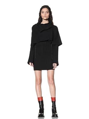 Ann Demeulemeester Women's Cropped Cape Jacket (Black)