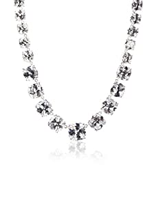 CZ by Kenneth Jay Lane Statement Gradient Necklace, Silver