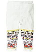 Legging with Frill Details - White (0-6 Months)