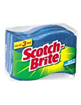 3M Scotch-Brite No-Scratch Multi-Purpose Scrub Sponge, 3 Count