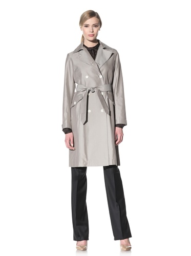 Luciano Barbera Women's Cotton Blend Belted Trench (Taupe)