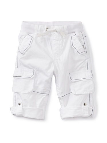 KANZ Baby Rolled-Up Cargo Pants (White)