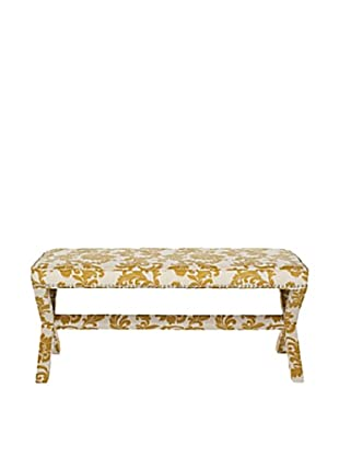 Safavieh Melanie Extended Bench, Maize And Beige Print