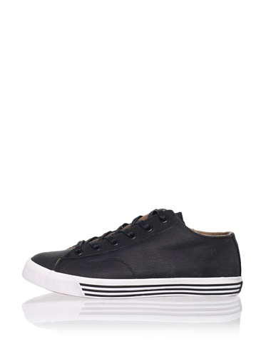 PRO-Keds Men's 69er Lo Leather Sneaker (Black)