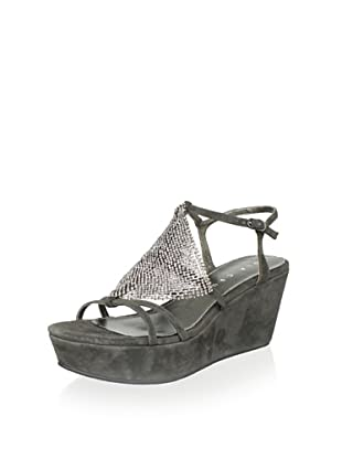 Lola Cruz Women's Wedge Sandal (Gris)