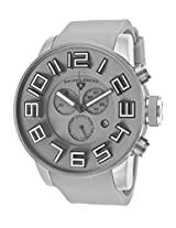 Airbourne Chronograph Light Grey Silicone And Dial Silver-Tone Case (30425-014L)