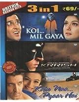 Hrithik Roshan Hits 3 in 1 DVD(Koi Mil Gaya-Krrish-Kaho Naa Pyaar Hai)