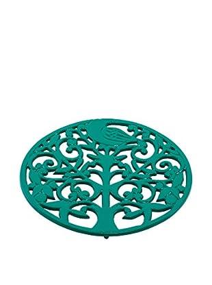 Old Dutch International Tree Of Life Trivet, Emerald Green