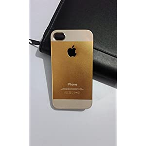 Dual Glossy Tone Premium Hard Back Case Cover For Iphone 4 4S - Champagne White