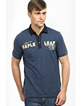 Blue Printed Polo T-shirts Clst (in The Closet)