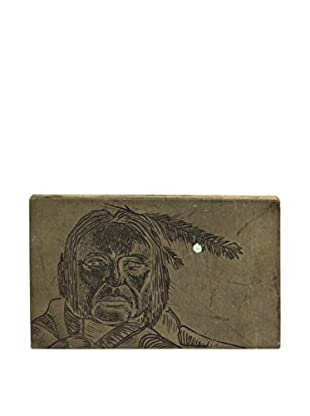 Uptown Down Found Etched Native American Stamp