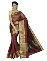Korni Cotton Silk Banarasi Saree DS-1504- Maroon KR0453