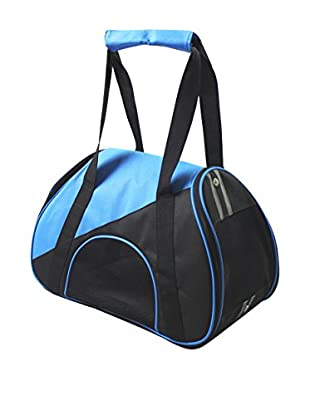 Pet Life Airline Approved Zip-N-Go Contoured Pet Carrier, Blue/Black, Small