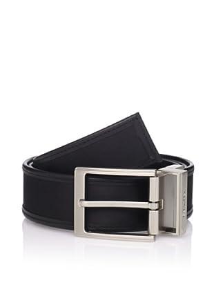 Calvin Klein Men's Reversible Flat Strap Belt (Black)