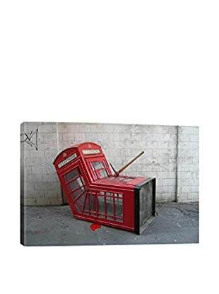 Banksy London Phone Booth Gallery Wrapped Canvas Print