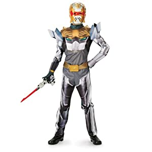 Disguise Power Rangers Megaforce Robo Knight Boy's Muscle Costume