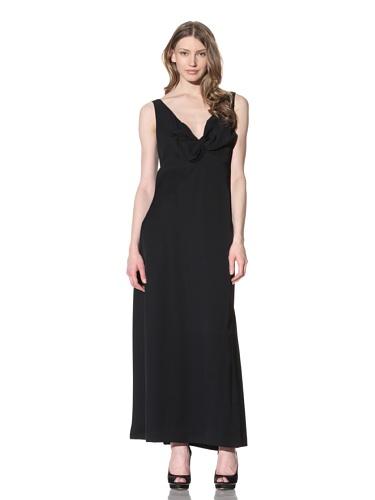 Chloé Women's Asymmetrical Sleeveless V-Neck Dress (Black)