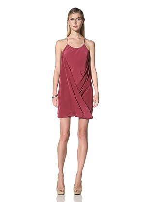 Poleci Women's Folded Hem Dress (Crimson)