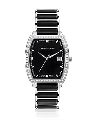 Chrono Diamond Uhr mit schweizer Quarzuhrwerk Woman 10310 Leandra schwarz