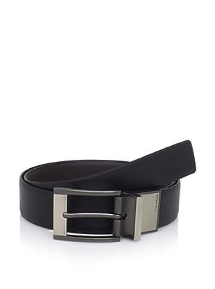 Calvin Klein Men's Reversible Logo Belt (Brown/Black)
