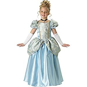 InCharacter Costumes, LLC Girls 7-16 Enchanting Princess Ball Gown Set, Light Blue, 10