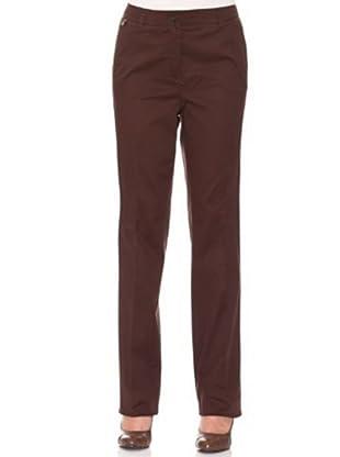 Cortefiel Pantalón Básico (Marrón Oscuro)