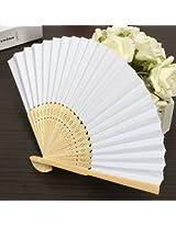 Simple Blank DIY Paper Hand Folding Fan Wedding Party Folding Fans Gift