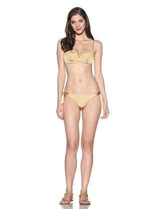 Cosabella Women's Tuxedo Demi-Cup Bikini Top (Oro)