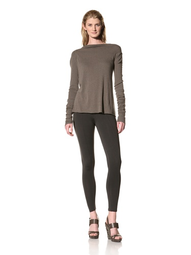 RICK OWENS Women's Long Sleeve Drapeback Top (Darkdust)