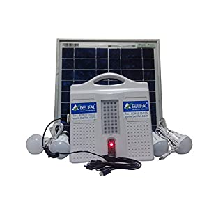 Belifal Solar Home Lighting System with battery and solar panel