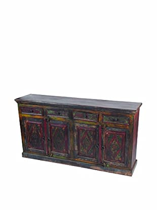 MOTI Historic 4-Carved Door & 4-Drawer Buffet