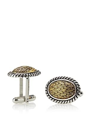 Link Up Oval Two-Tone Basket Weave Cufflinks