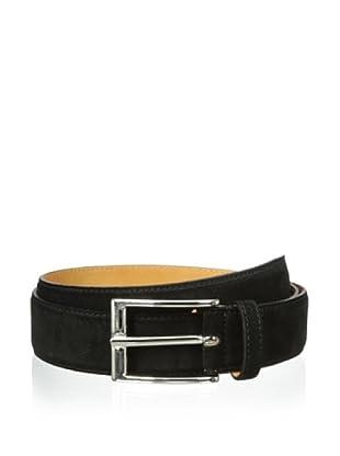 Leone Braconi Men's Velour Z Belt (Black)