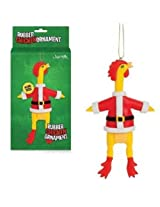 Santa Chicken Ornament