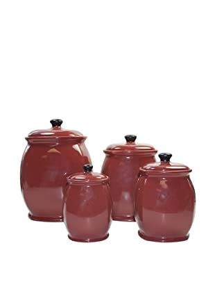 American Atelier Heartstone Red Canister Set, Red, 19x7x13 inches