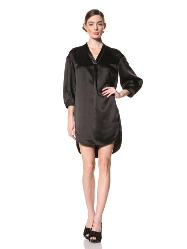 Magaschoni Women's V-Neck Dress (Black)