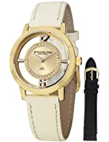 Stuhrling Original Women's 388L2.SET.02 Winchester Tiara 23 Yellow Gold-Plated Stainless Steel and Swarovski Crystal Watch with Additional Leather Strap