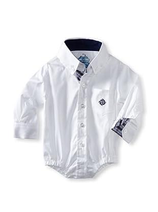 Andy & Evan Baby Boys Shirtzie (White Oxford)
