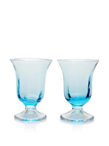 Villa d'Este Set of 2 Stem Water Glass (Turquoise)