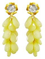 Aastha Jain Passion of Yellow Petals Sterling Silver (18k gold polish) Earring For Women
