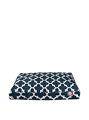 Trellis Small Rectangle Pet Bed, Navy
